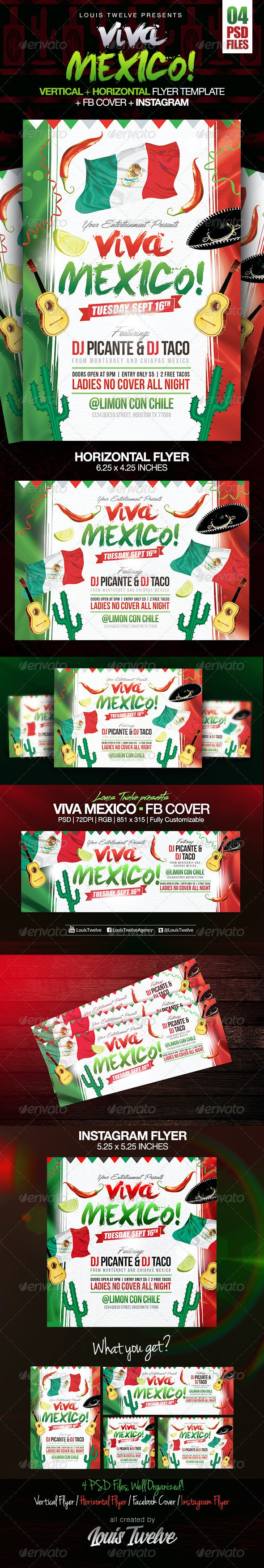 Viva Mexico Independence Day Party | 4PSD Files - Clubs & Parties Events