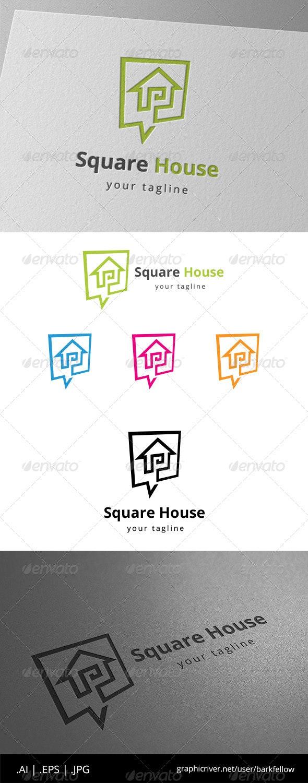 Square House Speak Template - Symbols Logo Templates
