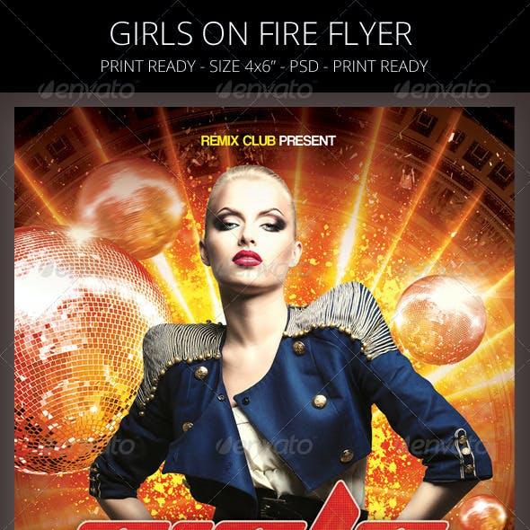 Girls On Fire Flyer Template