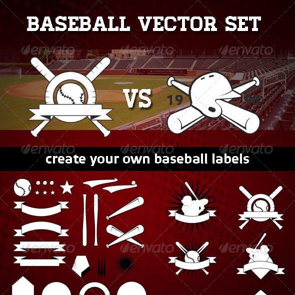 Baseball Label Set