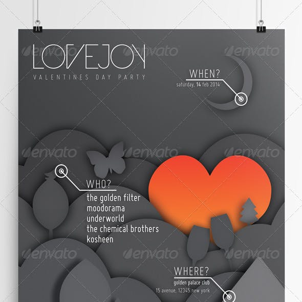 Lovejoy • Club Flyer & Poster
