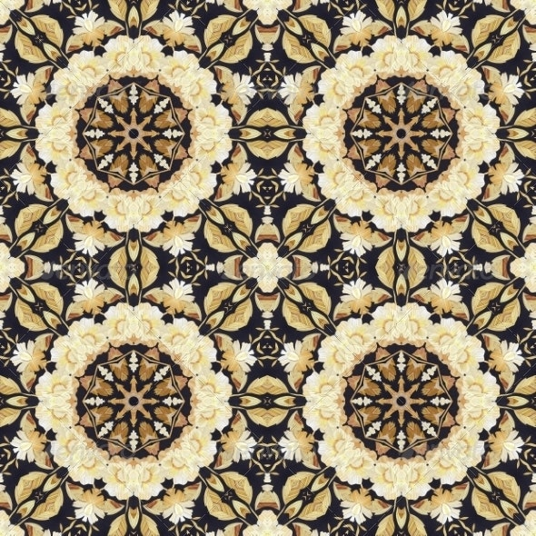 Seamless Ornament, Straw and Bark on Fabric - Patterns Backgrounds