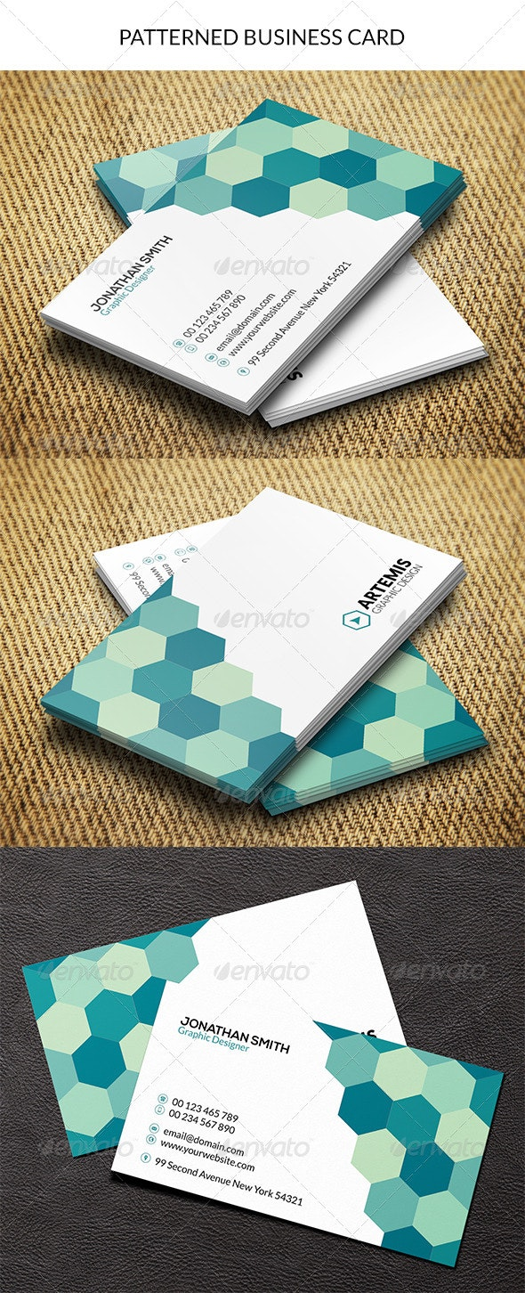 Patterned Business Card - Creative Business Cards