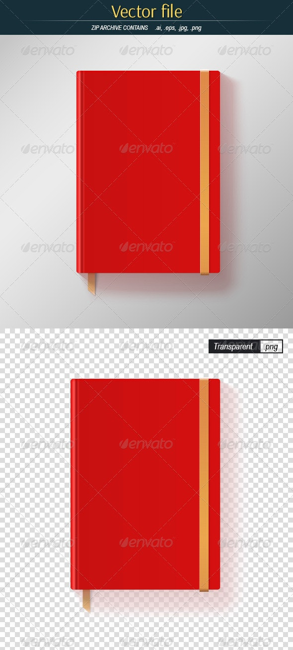 Red Notebook - Man-made Objects Objects