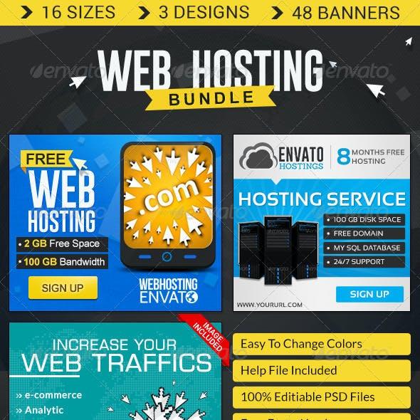 Web Hosting Banner Bundle - 3 Sets