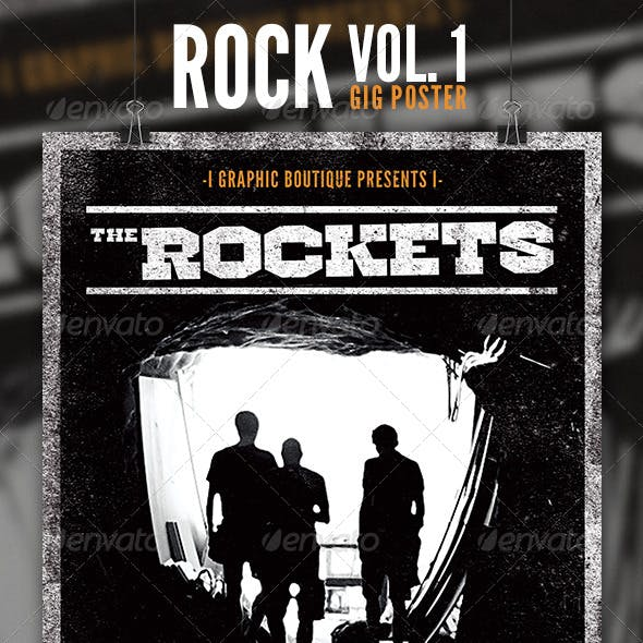 Rock Gig Poster Vol. 1