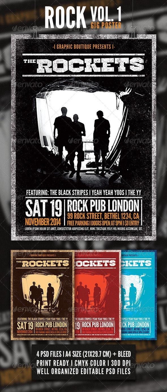 Rock Gig Poster Vol. 1 - Concerts Events