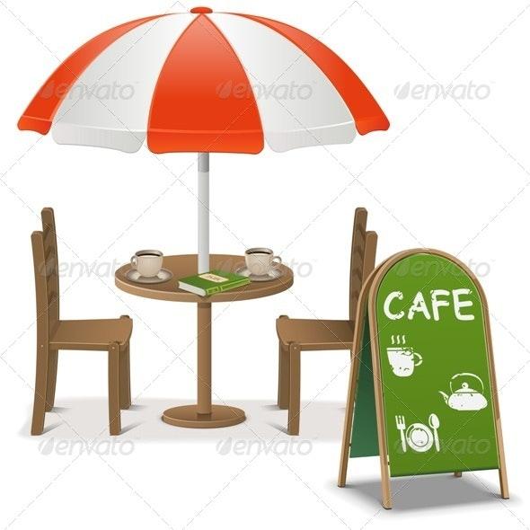 Vector Outdoor Cafe - Services Commercial / Shopping