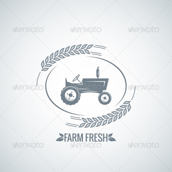 Farm Fresh Tractor Background - Industries Business