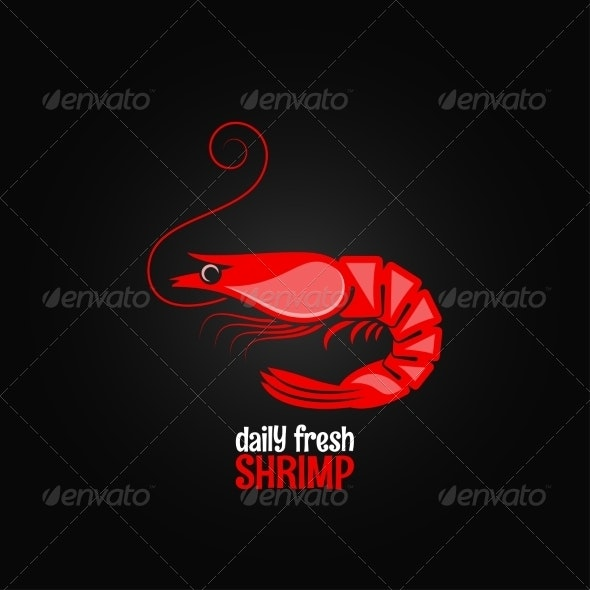 Shrimp Seafood Menu Design - Food Objects