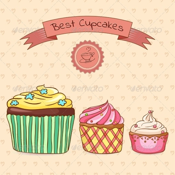 Beautiful Card Best Cupcakes - Food Objects