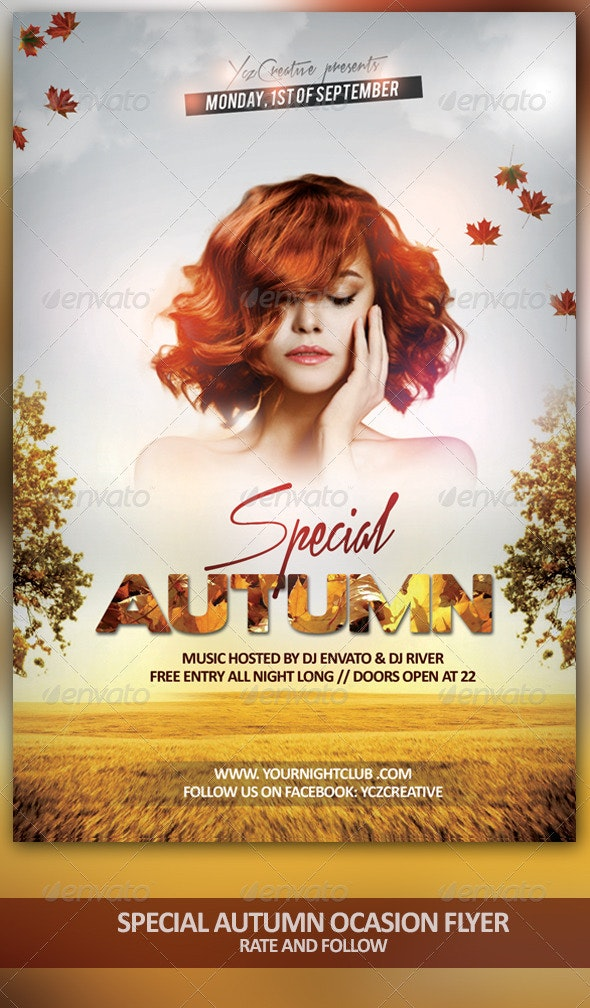 Autumn Special Ocasion - Events Flyers
