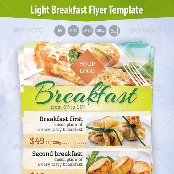 Light Breakfast Flyer Template