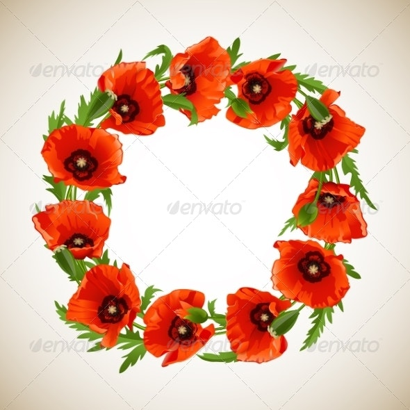 Wreath of Poppies - Flowers & Plants Nature