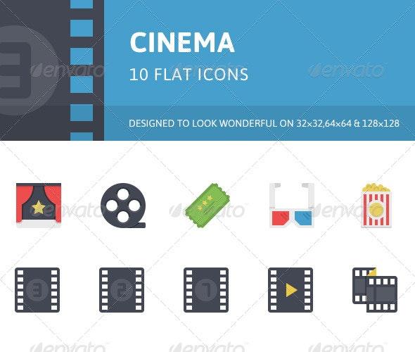 Cinema Flat Icons - Media Icons