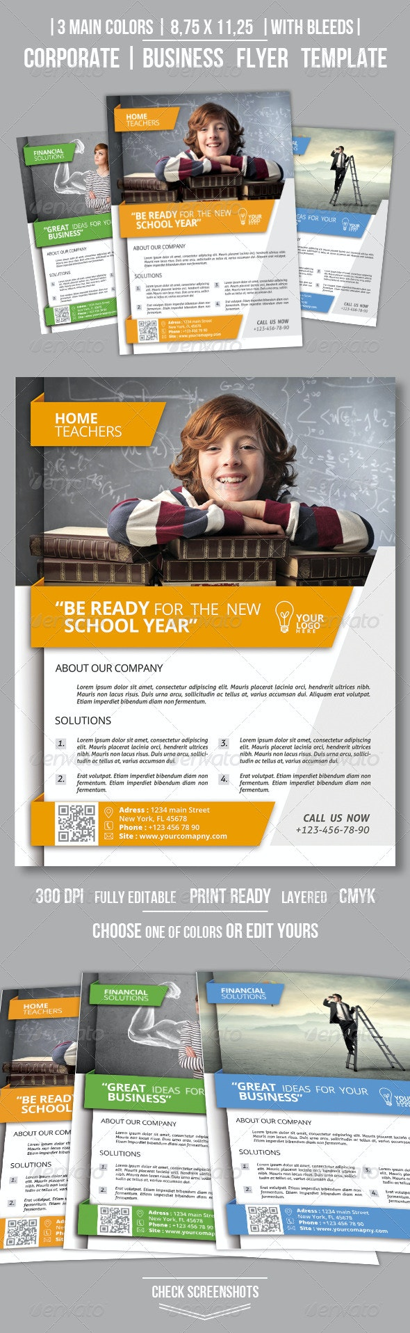 Clean Corporate Business Flyer - Corporate Flyers