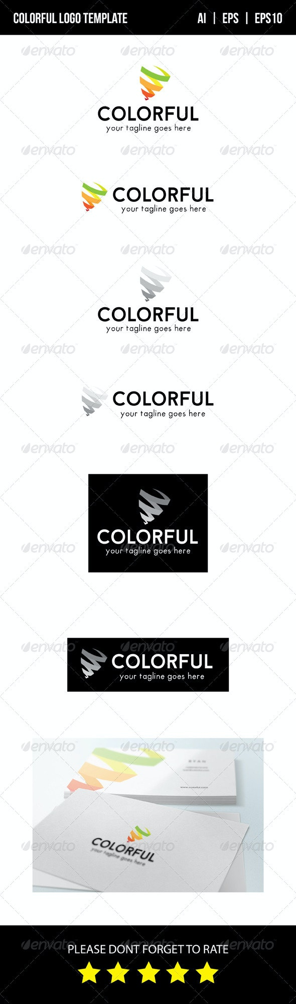 Colorful Logo Template - Vector Abstract