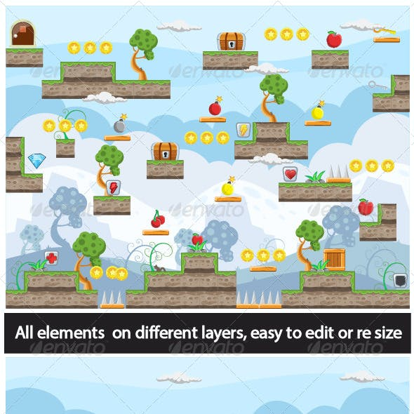 Game Tile Set Nature Ornaments