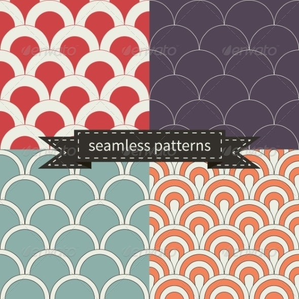 Retro Seamless Patterns - Patterns Backgrounds