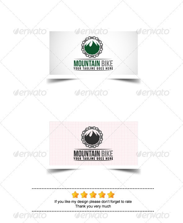 Mountain Bike Logo - Nature Logo Templates