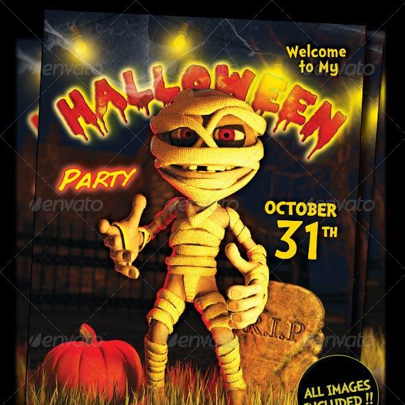 Halloween KIds Party Flyer Template Vol3