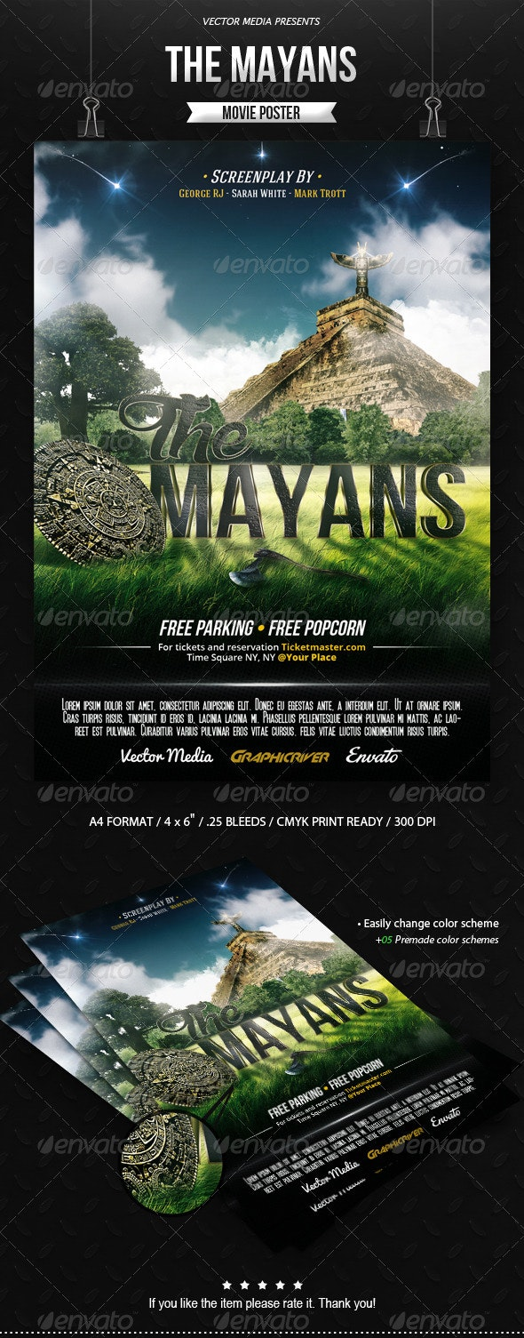 The Mayans - Movie Poster - Miscellaneous Events