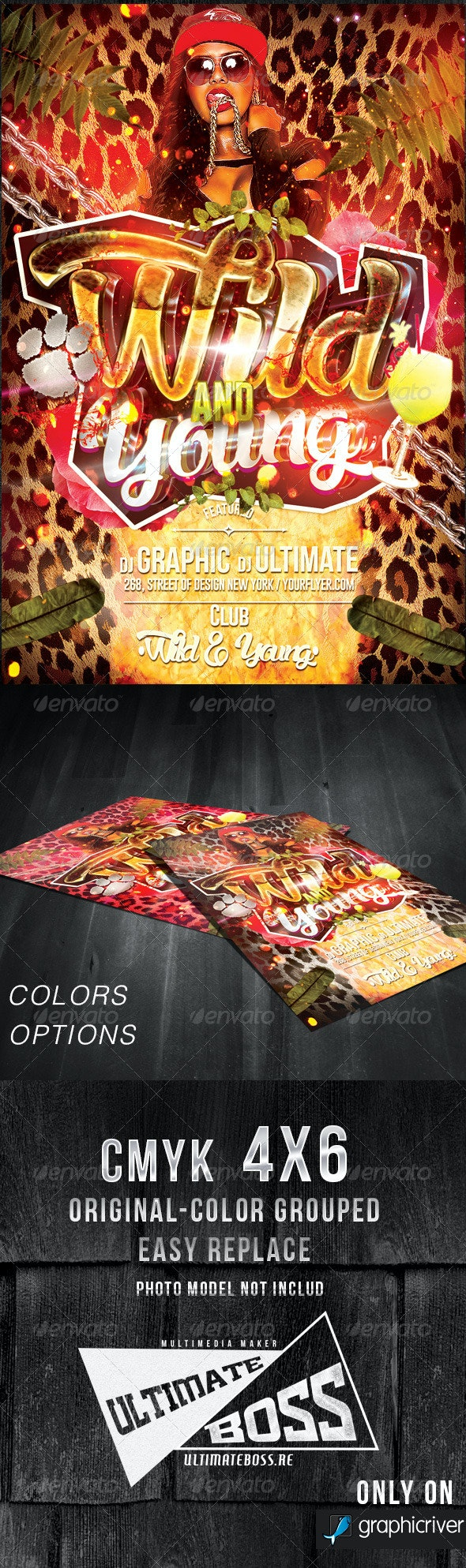 Wild and Young Flyer Template - Flyers Print Templates