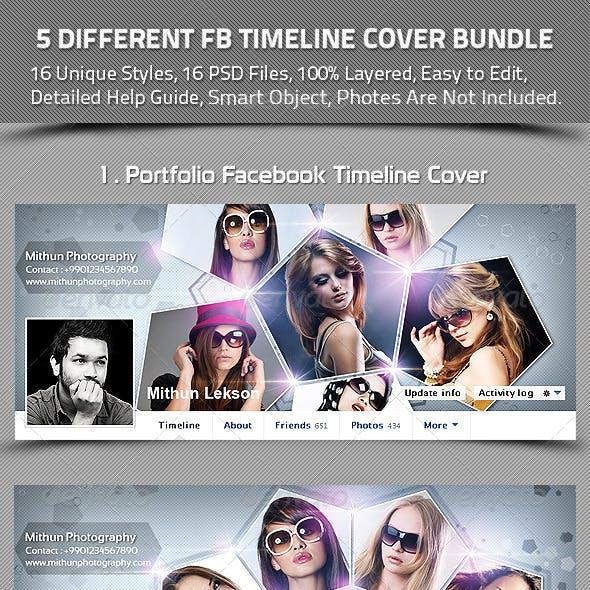 5 Different Facebook Timeline Cover Bundle
