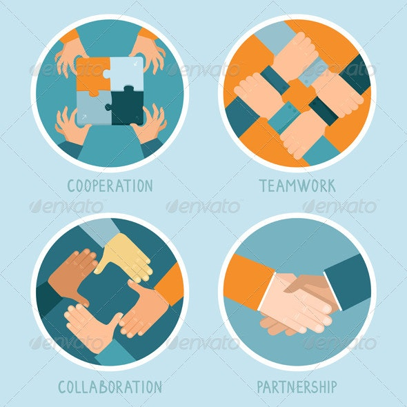 Vector Teamwork and Cooperation Concept - Business Conceptual