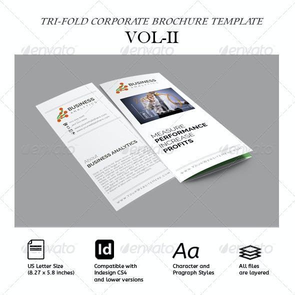 Clean Tri-Fold Corporate Brochure Vol.2