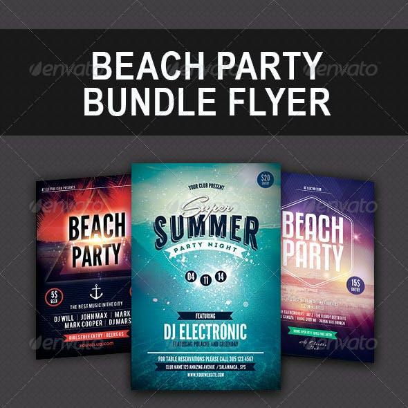 Beach Party Bundle Flyer