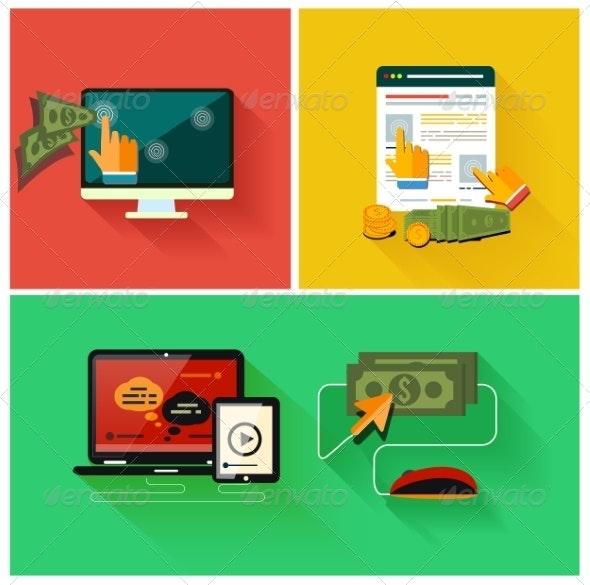 Pay Per Click Concept - Web Technology