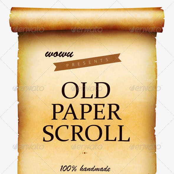 Old Paper Scroll with Layered PSD