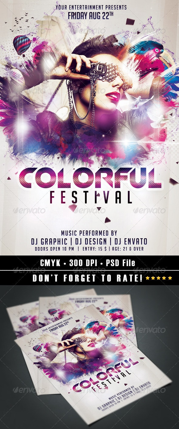 Colorful Festival  - Events Flyers