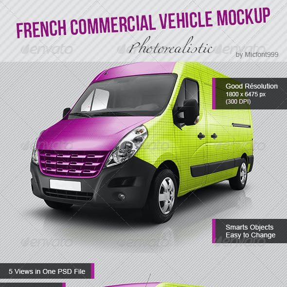 Photorealistic French Commercial Utility Mock-up