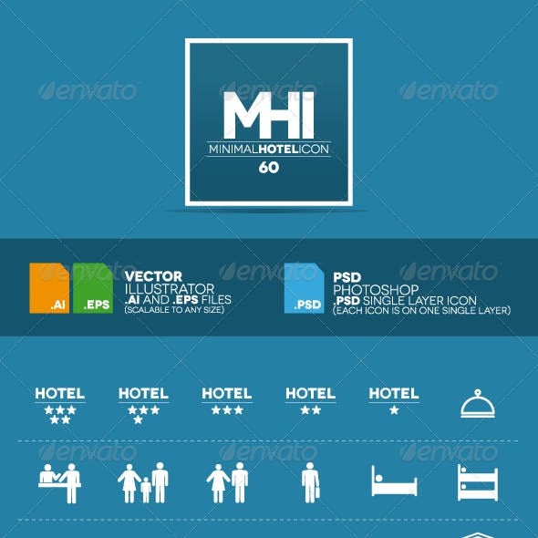 60 Minimal Hotel Icon