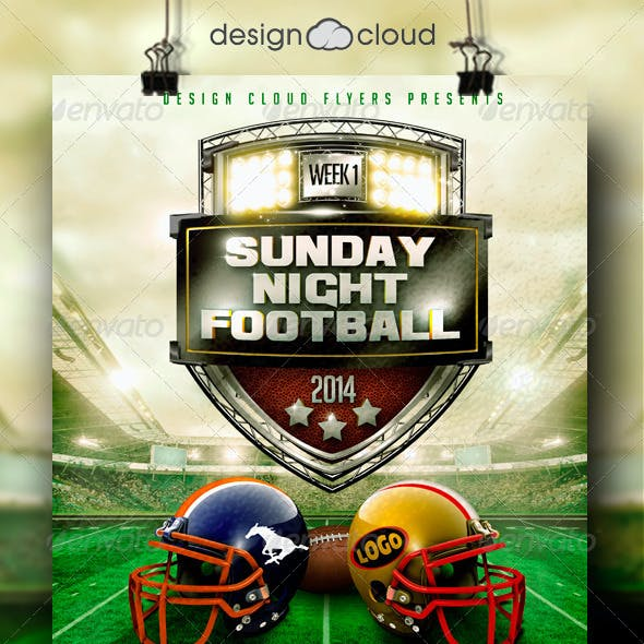 Football Game Day and Night Event Flyer Template