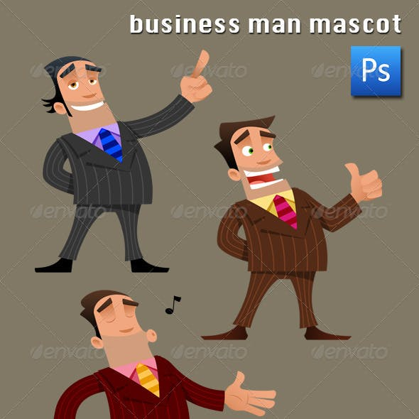 Business Man Mascot