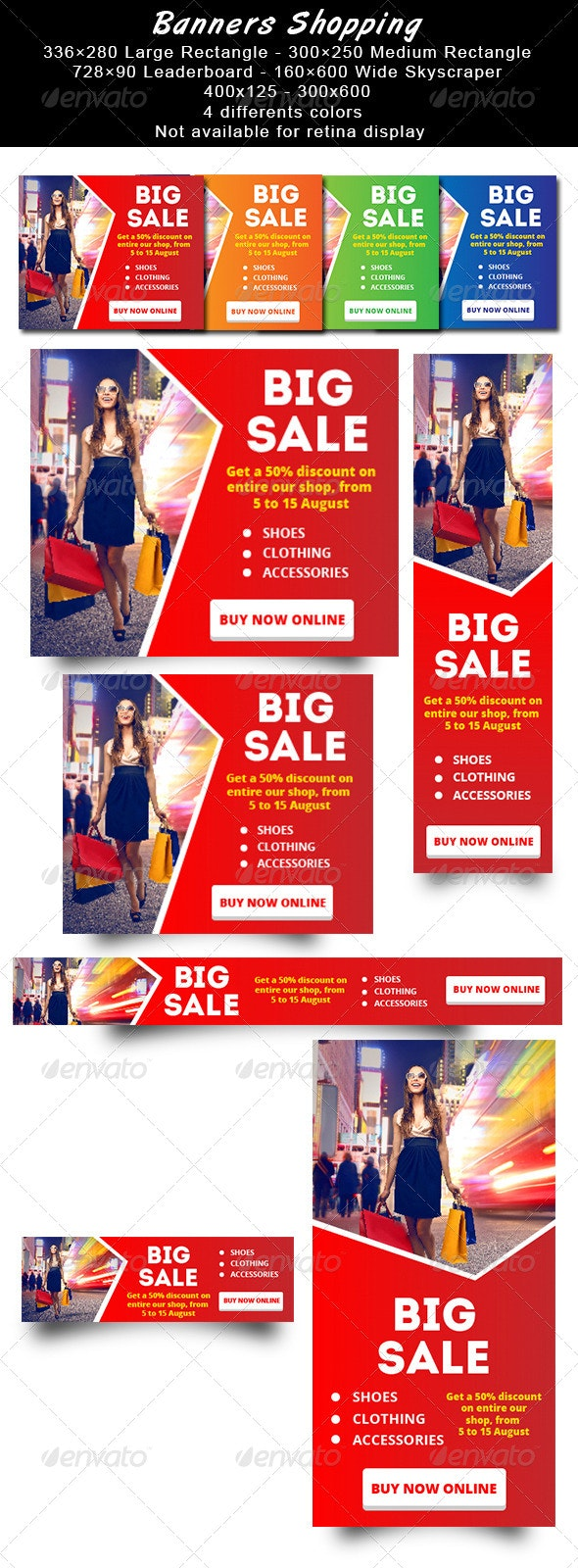 Banners Shopping - Banners & Ads Web Elements