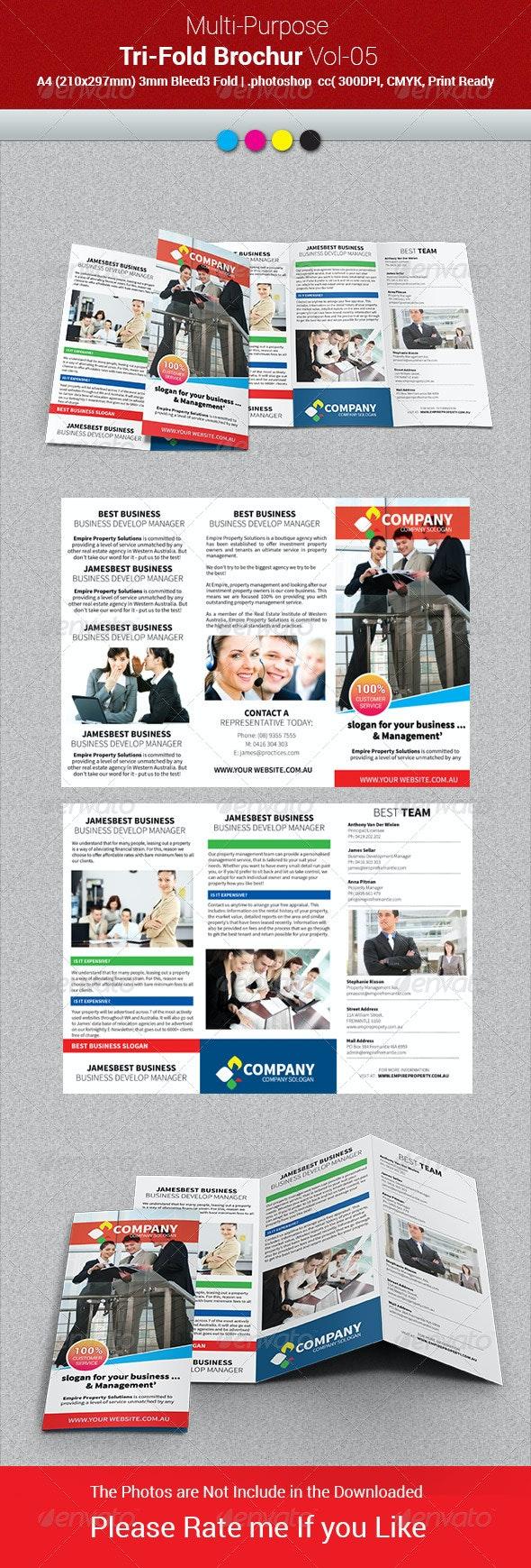 Multipurpose Business Tri-Fold Brochure Vol-05 - Corporate Brochures