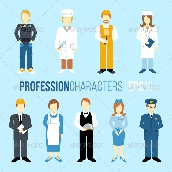 Profession Characters Set