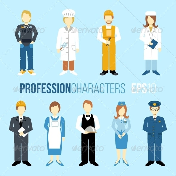 Profession Characters Set - People Characters