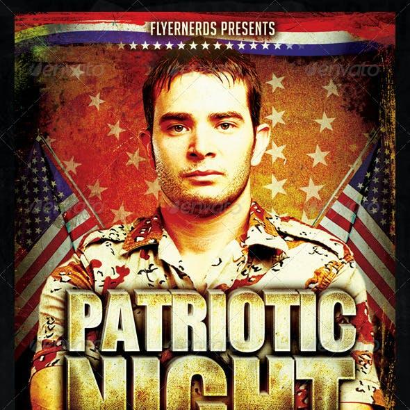 Patriotic Day Party Flyer