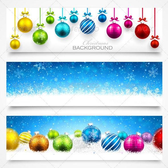 Collection of Christmas Banners - Christmas Seasons/Holidays