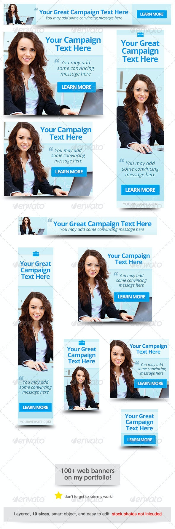 Corporate Web Banner Design Template 48 - Banners & Ads Web Elements