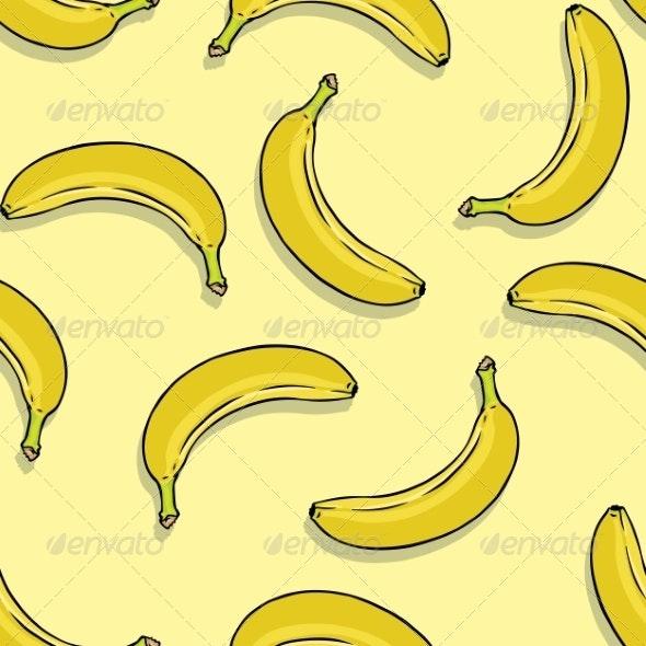 Banana Seamless Pattern - Patterns Decorative