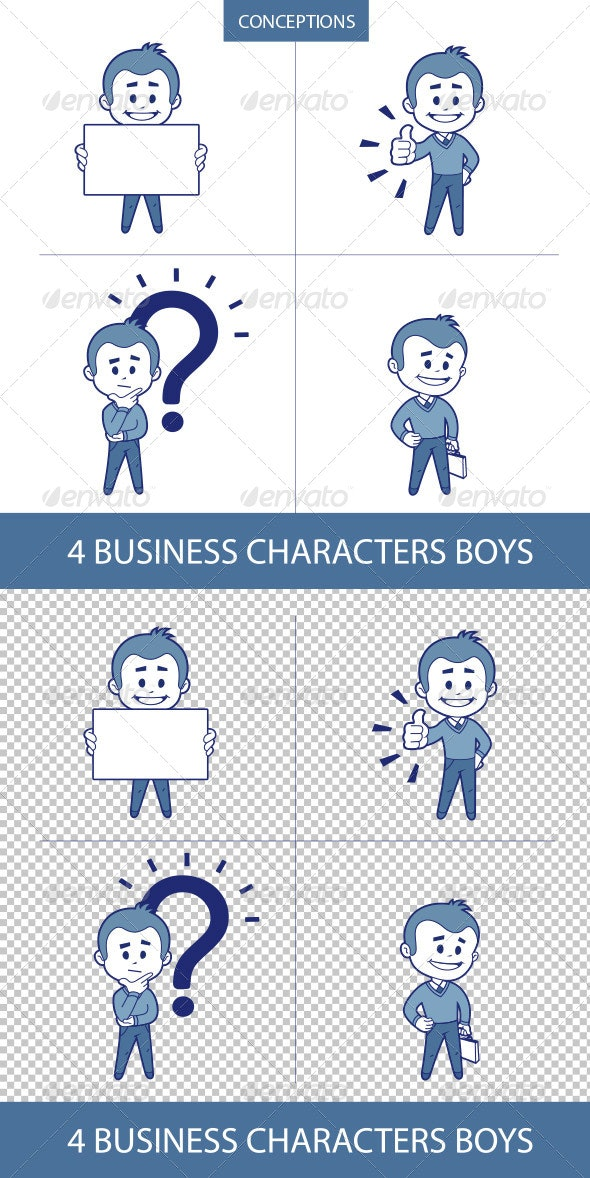Business Characters Mans - People Characters