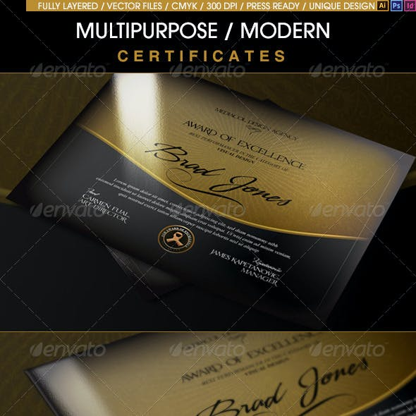 Multipurpose Modern Certificates