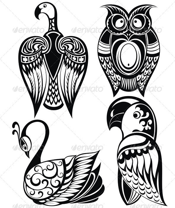 Birds Icons - Animals Characters