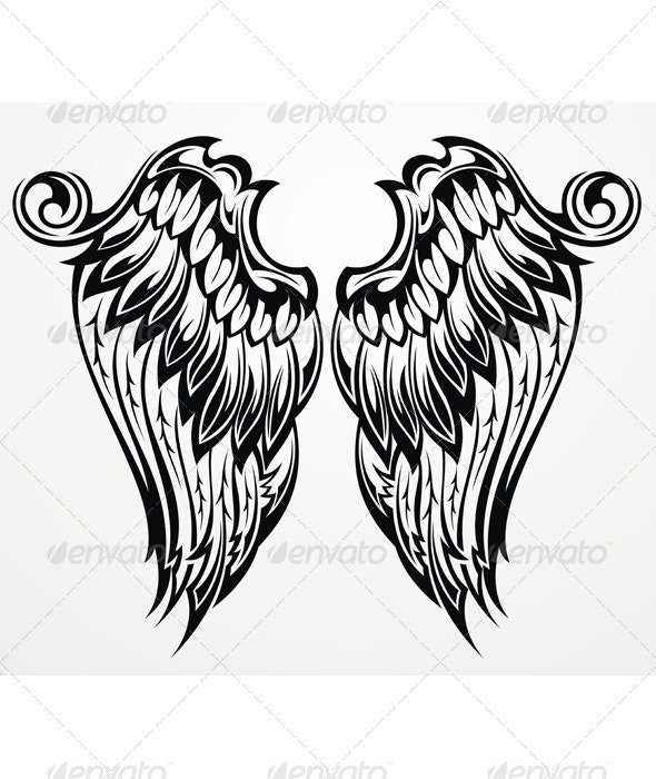 Tattoo Wings - Animals Characters